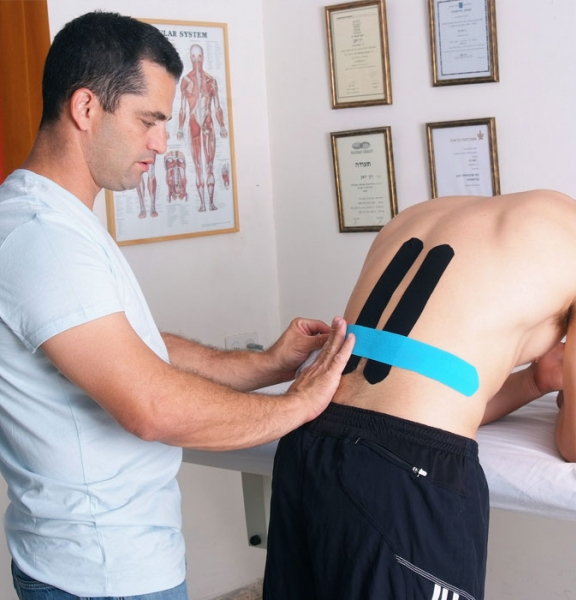 Kinesio Taping for the lower back to reduce stress