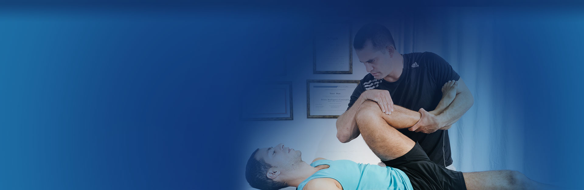 טיפול בכאבי ברכיים וגב תחתון בקליניקה לפיזיותרפיה יואב רון