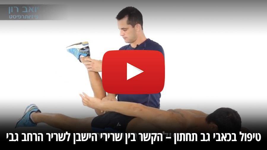 טיפול בכאבי גב תחתון – הקשר בין שרירי הישבן לשריר הרחב גבי
